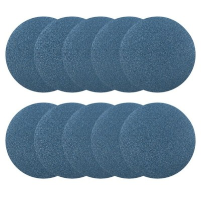 uxcell サンディングディスク 紙やすり サンドペーパー 外径125mm 80グリット フロッキングサンドペーパー ブルー 10枚入