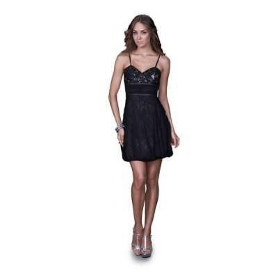 海外バイヤー厳選ブランド ドレス Women's Elegant Black Lace/ Tulle Cocktail Dress