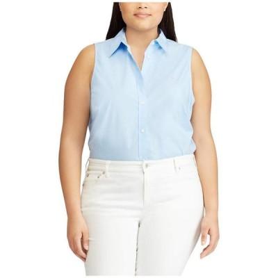 ラルフローレン レディース シャツ トップス Plus Size No-Iron Sleeveless Shirt