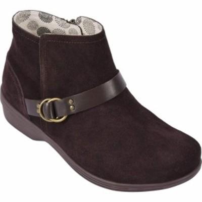 レヴィタライン Revitalign レディース ブーツ シューズ・靴 Malibu Suede Leather Boot Chocolate