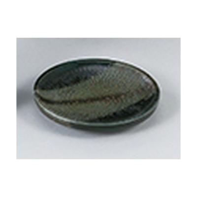 和陶オープン 和食器 / 飛びかんな深緑 やくみ皿 寸法:9.5 x 1.5cm