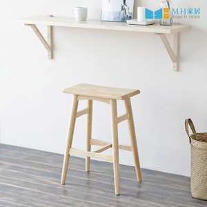 【MH家居】吧椅 吧台椅 高腳椅 原木椅 韓國倫敦原木高腳椅 原木色