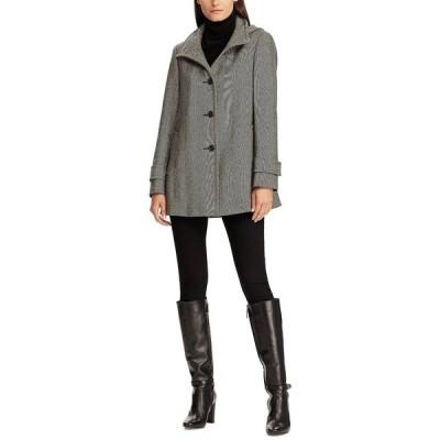 ラルフローレン コート アウター レディース Wool-Blend Hooded Coat Black/White
