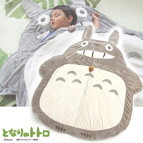 【龍貓造型睡袋】龍貓 絨毛 兒童睡袋 枕頭 舒服柔軟 宮崎駿 日本限定 該該貝比日本精品