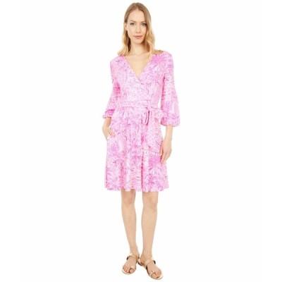 リリーピュリッツァー ワンピース トップス レディース Chace Dress Pink Blossom Palm Beach Paradise Engineered Knit Dress