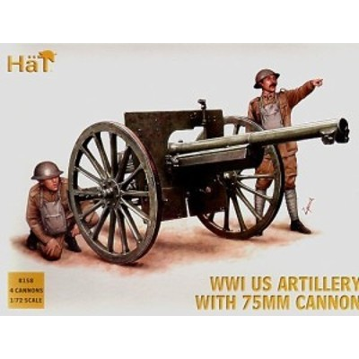 1/72 scale WWI US Artillery with 75mm Cannon(中古品)