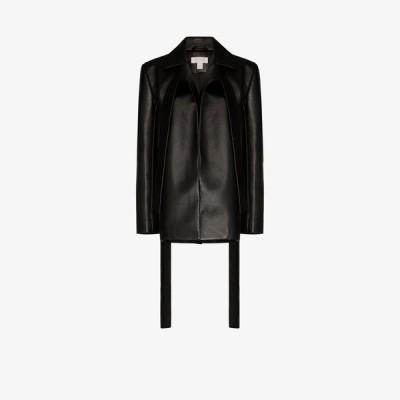 マテリエル Materiel レディース スーツ・ジャケット アウター faux leather blazer jacket black