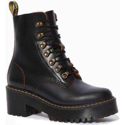 ドクターマーチン Dr Martens レディース ブーツ シューズ・靴 Dr. Martens Leona Boot Black Vintage Smooth