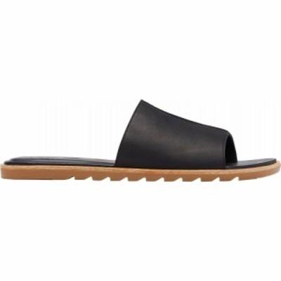 ソレル SOREL レディース サンダル・ミュール シューズ・靴 Ella II Block Slide Sandals Black