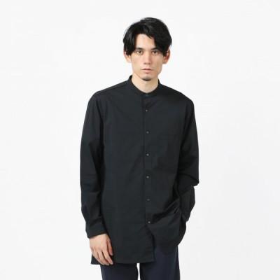 TIGORA SMART ティゴラ メンズ 長袖シャツ ストレッチバンドカラーシャツ TR-9C1581HL : ブラック