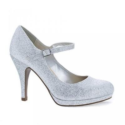 シティークラッシフィード レディース パンプス Almond Toe Mary Jane Extra Padded Comfort Stiletto Dress Pumps
