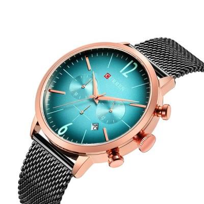 CURREN 8313メンズ時計ステンレスカジュアル日付防水クォーツ時計