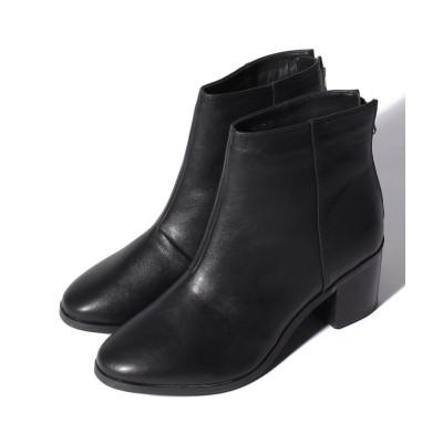 【ジェリービーンズ】 バックジップブーツ レディース ブラック L(24.0〜24.5cm) JELLY BEANS