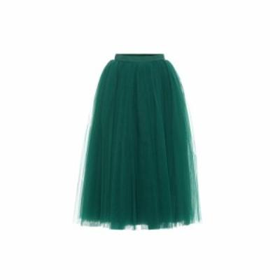 ドルチェandガッバーナ Dolce and Gabbana レディース ひざ丈スカート スカート Tulle midi skirt Light Musk Green