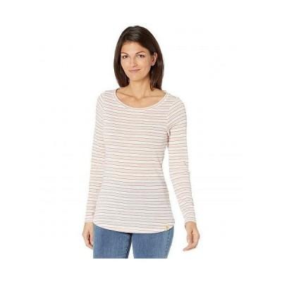 U.S. POLO ASSN. USポロ レディース 女性用 ファッション Tシャツ Long Sleeve Lurex Shadow Stripe Knit Shirt - English Rose