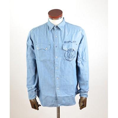 <REPLAY(Men)/リプレイ> カジュアルシャツ LS Shirt PSG422.000.180 G75010 BLUE【三越伊勢丹/公式】