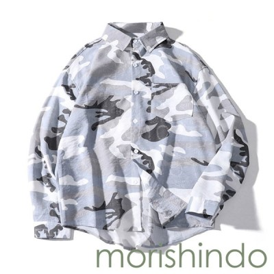 アロハシャツ カジュアルシャツ レトロ 長袖シャツ おしゃれ 春秋服 M グレー 前開き メンズ ハワイ風 韓国風 ビーチシャツ かわいい