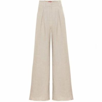 スタッド Staud レディース ボトムス・パンツ High-rise flared linen pants Natural