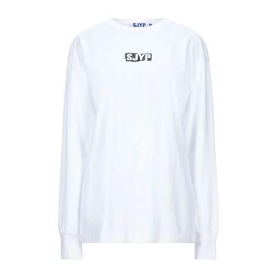 SJYP T シャツ ホワイト S コットン 100% T シャツ