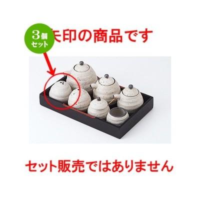 3個セット 盆付カスター 和食器 / 粉引三穴胡椒 寸法:5.7 x 6cm