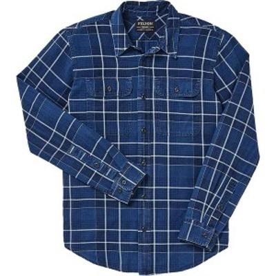 フィルソン メンズ シャツ トップス Filson Men's Scout Shirt Indigo / Black / Khaki Plaid