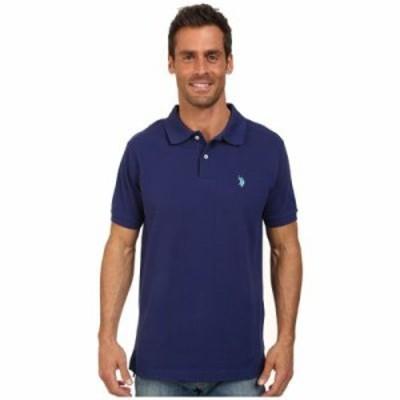 ユーエスポロアッスン ポロシャツ Solid Cotton Pique Polo with Small Pony Dodger Blue