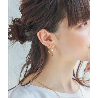 【フィービィー/Phoebe】 2wayパールフープファサネイトイヤリング