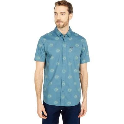 ボルコム Volcom メンズ トップス Inner Valley Short Sleeve Button-Up Rincon Blue