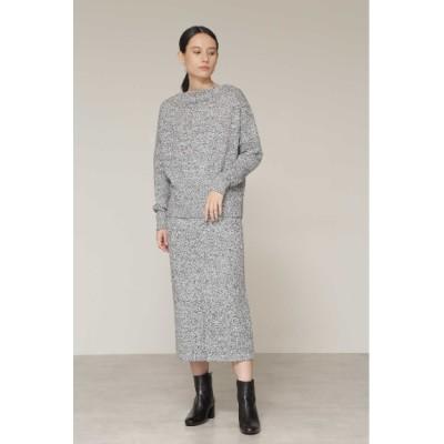 BOSCH (ボッシュ) レディース ◆ミックスカラーニットセットアップスカート ブラック(010) 38