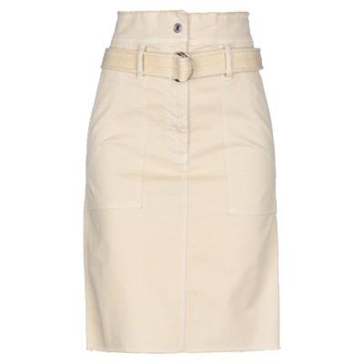 VANESSA BRUNO ひざ丈スカート サンド 38 コットン 97% / ポリウレタン 3% ひざ丈スカート