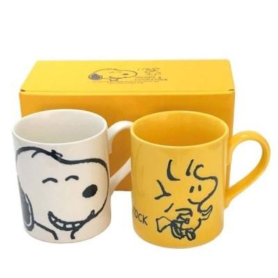 スヌーピー&ウッドストック ペアマグセット 日本製 快気祝い ご挨拶 お礼 内祝い 出産内祝い 結婚内祝い プチギフト お返し 贈り物 に!