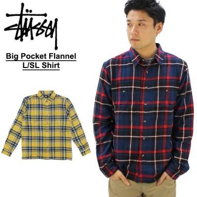 ステューシー STUSSY  Big Pocket Flannel L SL Shirt 長袖 シャツ[BB]