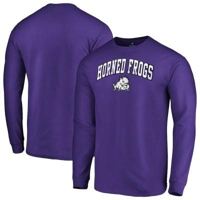 """ファナティックス メンズ Tシャツ 長袖 ロンT """"TCU Horned Frogs"""" Fanatics Branded Campus Long Sleeve T-Shirt - Purple"""