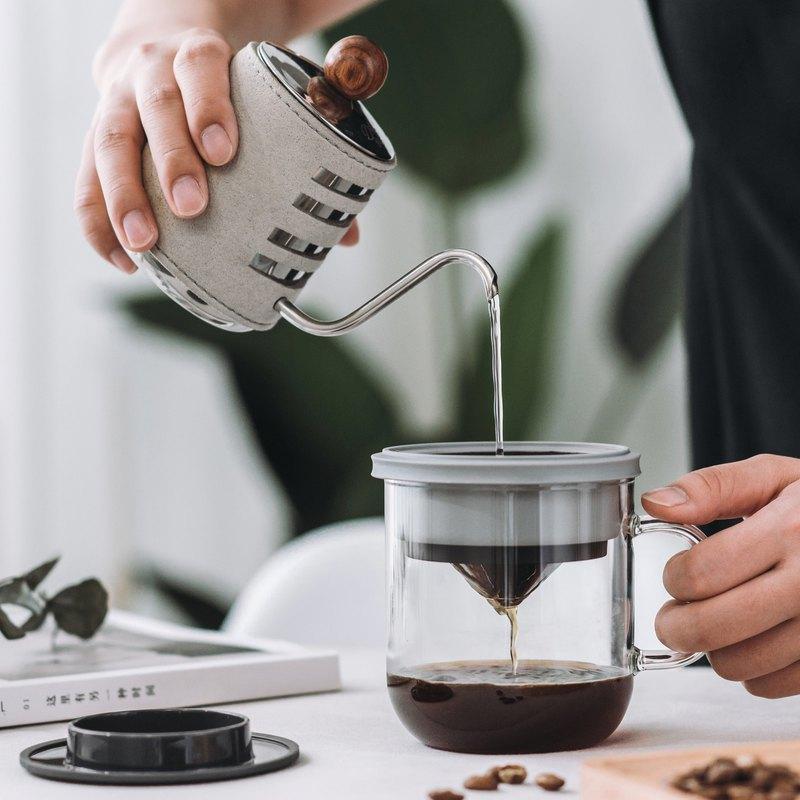 【無需濾紙】手沖咖啡杯 0.4mm濾網 多用途杯蓋 (加購陶瓷糖奶盅)