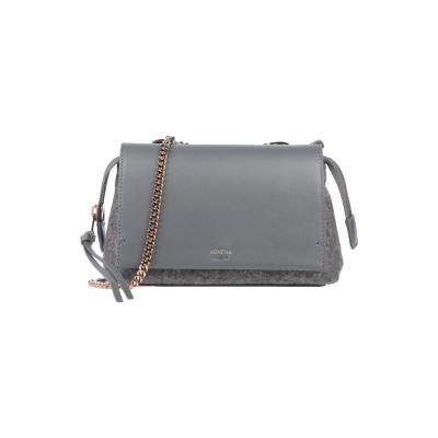 アニオナ AGNONA メッセンジャーバッグ グレー 革 / 紡績繊維 メッセンジャーバッグ