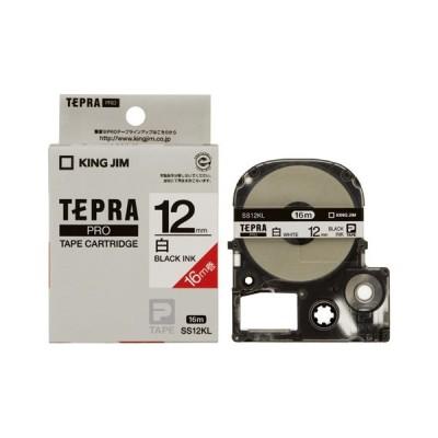 キングジム テプラ PROテープ 12mm 白/黒文字 SS12KL 1個