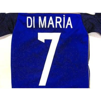 子供用 K041 アルゼンチン DI MARIA*7 ディマリア  紺色 16 ゲームシャツ パンツ付 ユニフォーム ジュニア