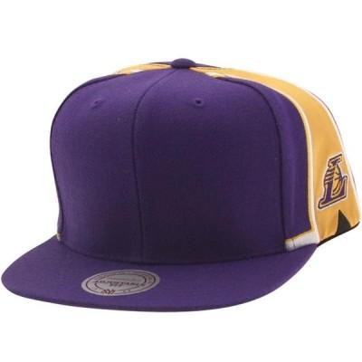 ユニセックス 衣類 アパレル Mitchell And Ness Los Angeles Lakers Blank Front Snapback Cap (purple)