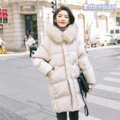 コート ダウンコート レディース 中綿 コート ダウンジャケット 秋冬 40代 カジュアル 中綿 ダウンコート 軽い 暖かい 大きいサイズ ファー付き アウター 2色
