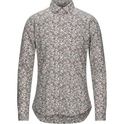 メッサジェリエ MESSAGERIE メンズ シャツ トップス Patterned Shirt Grey