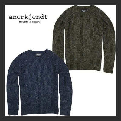 【anerkjendt】アナケット TEXAS KNIT SWEATER ニット セーター シンプル 暖かい カジュアル メンズ 大人 ウール混紡