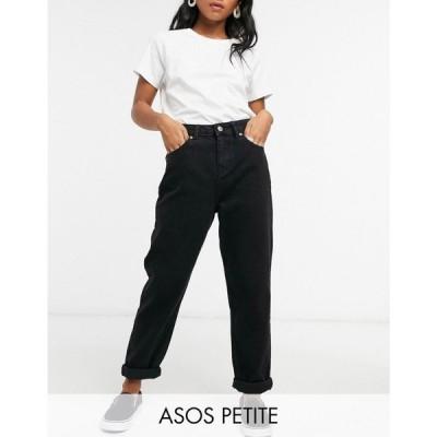 エイソス ASOS Petite レディース ジーンズ・デニム ボトムス・パンツ Petite high rise 'original' mom jeans in black ブラック