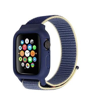対応 Apple Watch 交換用5/4/3/2/1 新しいナイロン 軽量通気性 iWatch通用ベルト 42mm 44mm ナイロンスポーツループ