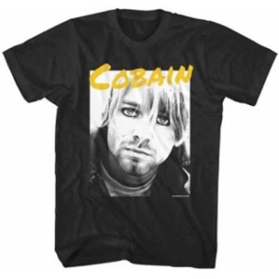 ファッション トップス Nirvana-Kurt Cobain-Staring At You-X-Large Black T-shirt
