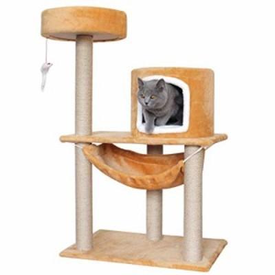 頑丈 猫の家具猫の木サイザルで覆われた猫の塔ひっかかれたポスト猫のベッ (中古品)