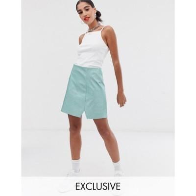 リクレイム ヴィンテージ レディース スカート ボトムス Reclaimed Vintage inspired skirt in glitter