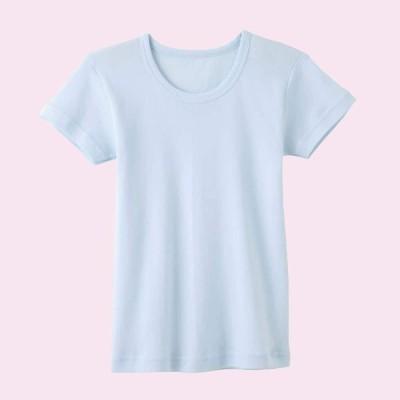 GUNZE グンゼ キッズ 【子供用】半袖丸首Tシャツ(女の子)【SALE】 ピンク 100