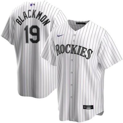 ナイキ メンズ Tシャツ トップス Charlie Blackmon Colorado Rockies Nike Home 2020 Replica Player Jersey