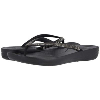 フィットフロップ FitFlop レディース ビーチサンダル シューズ・靴 Iqushion Sparkle Black