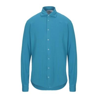 FILIPPO DE LAURENTIIS シャツ ターコイズブルー 52 コットン 100% シャツ